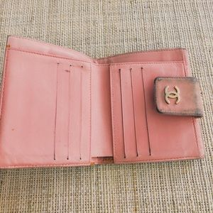 CHANEL Bags - Chanel pink lambskin icon wallet - authentic.